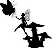 Fairy del fungo Immagini Stock