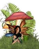 Fairy del fungo del terreno boscoso Fotografia Stock Libera da Diritti