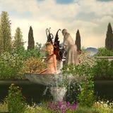 Fairy del giardino - giorno Immagine Stock