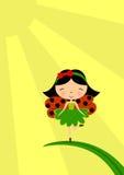 Fairy del Ladybug Immagini Stock