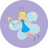 fairy della farfalla Immagini Stock Libere da Diritti