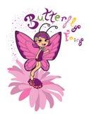 Fairy della farfalla Fotografie Stock Libere da Diritti