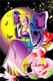 Fairy della farfalla Fotografie Stock