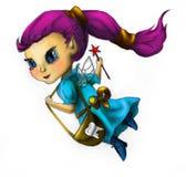 Fairy di dente in vestito blu Fotografia Stock