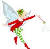 Fairy di natale Fotografie Stock