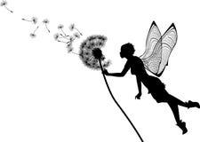 Fairy do dente-de-leão Imagens de Stock