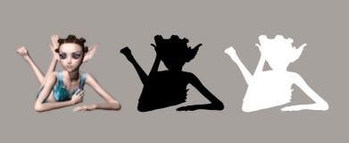 Fairy do duende ilustração do vetor