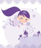 Fairy do inverno Imagens de Stock Royalty Free