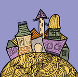 Fairy doddle town Stock Image