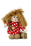 Fairy doll hobgoblin in shirt with polka dots Royalty Free Stock Photography