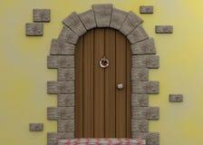 Fairy Door - 3d. Old Fairy Door in 3D Stock Photos