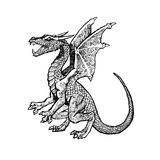 Fairy dragon. Legendary dragon, element for design Royalty Free Stock Images