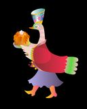 Fairy duck - mistress. Cute cartoon vector illustration Stock Images