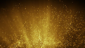 Fairy dust flying in gold light rays abstract illustration. Fairy dust flying in gold light rays. Computer generated abstract raster illustration Stock Photography