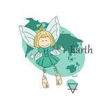 Fairy of earth. Royalty Free Stock Photos