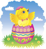 Fairy Easter chicken Stock Image