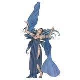 Fairy Elven on White Stock Photo