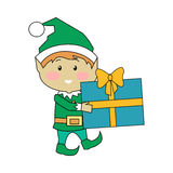 Fairy Elves with Christmas Presents Stock Images