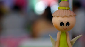 Fairy face in a party decoration Stock Photos