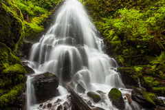 Fairy falls in Columbia River Gorge, Oregon Stock Photo