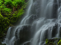 Fairy Falls Culumbia River Gorge up close Royalty Free Stock Image