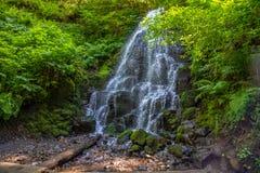 Fairy Falls on Wahkeena falls trail, Columbia River Gorge, Oregon stock photography