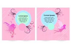 Fairy with fashion magical concept flyer, brochure cover, poster royalty free illustration