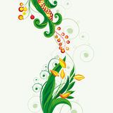 Fairy floral background. Vector illustration for your design Stock Photography