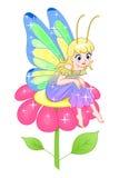 Fairy on flower Stock Photo