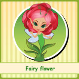 Fairy flower - hand-drawn illustration Royalty Free Stock Photo