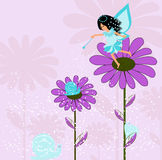 Fairy with flower Stock Photos