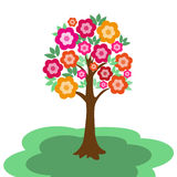 Fairy flowering tree Stock Images