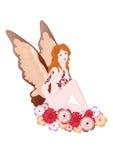 Fairy with flowers Stock Photos