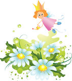Fairy and flowers Royalty Free Stock Photos