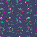 Fairy flowers. vector seamless pattern Stock Photos
