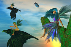 Fairy Flyers Stock Images