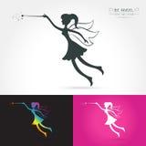 Fairy flying logo Royalty Free Stock Photos