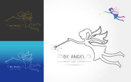 Fairy flying logo Stock Image