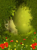 Fairy forest. Background illustration with fairy forest royalty free illustration