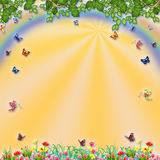 Fairy forest background banner Royalty Free Stock Photo