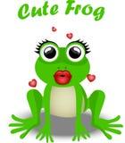 Fairy frog princess. Very high quality original trendy vector illustration of frog princess Royalty Free Stock Image