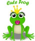 Fairy frog princess. Very high quality original trendy vector illustration of frog princess Stock Photo