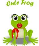 Fairy frog princess. Very high quality original trendy vector illustration of frog princess Stock Photography