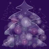 Fairy fur-tree. Symbol of new year, fairy fur-tree vector illustration