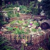 Fairy garden. Beautiful outdoor fairy garden in the summer Stock Photo