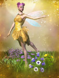 Fairy in garden Royalty Free Stock Images