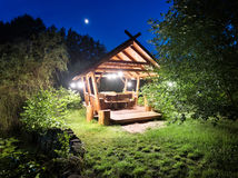 Fairy gazebo in woods Royalty Free Stock Images