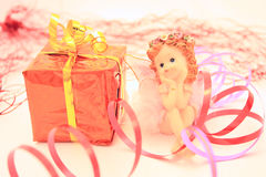 Fairy and gift Stock Images