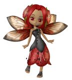 Fairy girl 2. 3D render of a cute autumn fairy Royalty Free Stock Photography