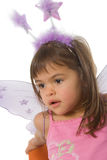 Fairy Girl 4592. Little girl wearing a fairy costume on white background Royalty Free Stock Photography